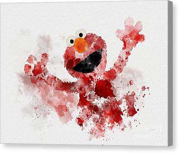 The Furry Red Monster Canvas Print