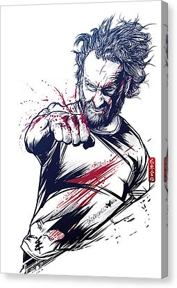 The Fury Of Rick Canvas Print by Akyanyme