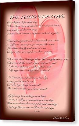 The Fusion Of Love Poem Canvas Print