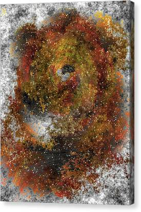 Shower Head Canvas Print - The Galaxy Of The Lion by Mario Carini