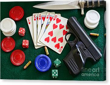 The Gambler Canvas Print by Paul Ward