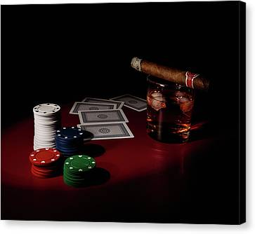 The Gambler Canvas Print by Tom Mc Nemar