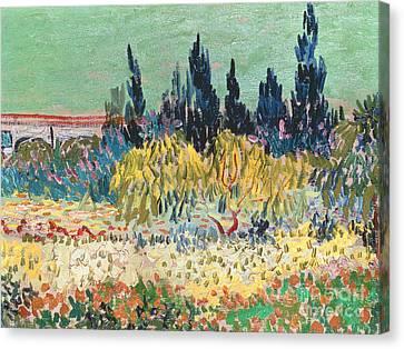 Garden Canvas Print   The Garden At Arles By Vincent Van Gogh
