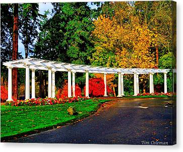 The Garden At Wapato Park Canvas Print by Tim Coleman