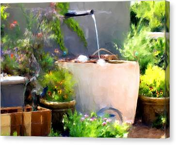 The Garden Canvas Print by Fred Baird