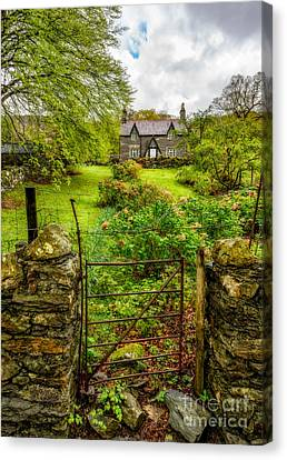 Entrance Door Canvas Print - The Garden Gate by Adrian Evans