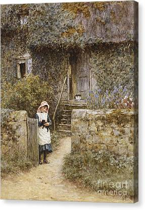 The Garden Gate Canvas Print by Helen Allingham