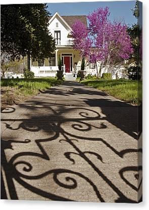 The Garden Gate Shadow Canvas Print by Charlie Osborn