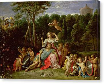 Le Jardin Canvas Print - The Garden Of Armida by David the younger Teniers
