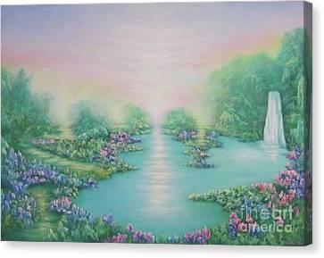 The Garden Of Eden Canvas Print by Hannibal Mane
