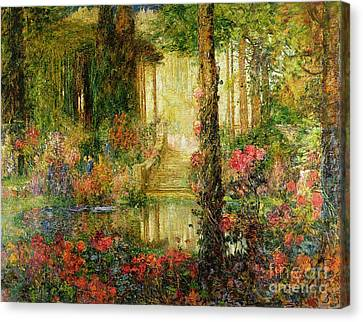 The Garden Of Enchantment Canvas Print by Thomas Edwin Mostyn