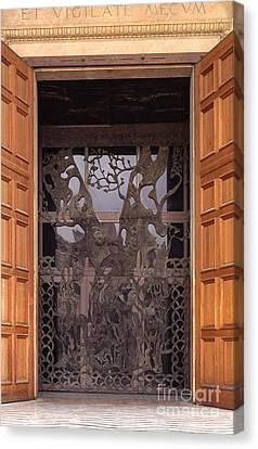 The Garden Of Gethsemane Church Doors Canvas Print by Thomas R Fletcher