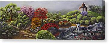 The Garden Of Koan Canvas Print by Laurie Golden