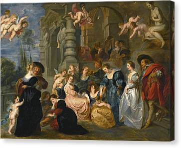 The Followers Canvas Print -  The Garden Of Love by Follower of Peter Paul Rubens
