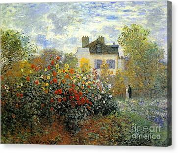 The Garden Of Monet At Argenteuil Canvas Print by Monet