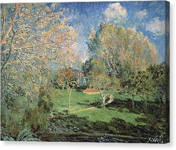 The Garden Of Monsieur Hoschede In Montgeron Canvas Print