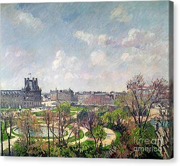 Tuileries Canvas Print - The Garden Of The Tuileries by Camille Pissarro
