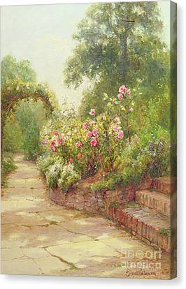 The Garden Steps   Canvas Print by Ernest Walbourn