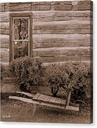 Cabin Window Canvas Print - The Gardener by Ed Smith