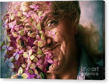The Gardener Canvas Print by Jean OKeeffe Macro Abundance Art