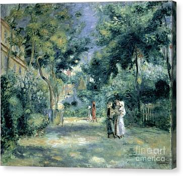 Parc Canvas Print - The Gardens In Montmartre by Pierre Auguste Renoir