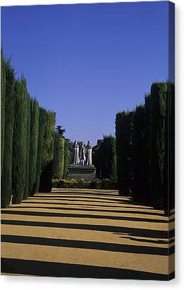 The Gardens Of The Alcazar Of Catholic Canvas Print by Taylor S. Kennedy