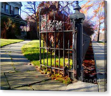 Canvas Print featuring the photograph The Gate by Betsy Zimmerli