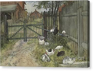 Gatepost Canvas Print - The Gate by Carl Larsson