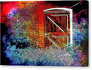 The Gate Canvas Print by Tom Gowanlock