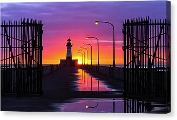 The Gates Of Dawn Canvas Print by Mary Amerman