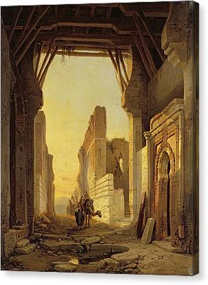 Traveller Canvas Print - The Gates Of El Geber In Morocco by Francois Antoine Bossuet