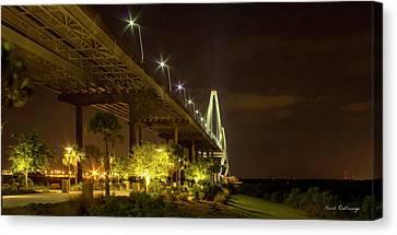 Island Stays Canvas Print - The Gateway Charleston Harbor Arthur Ravenel Jr Bridge by Reid Callaway