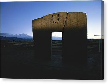 The Gateway Of The Sun, Once A Sacred Canvas Print by Kenneth Garrett