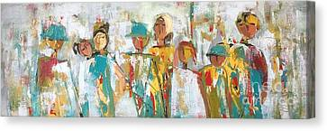 The Gatherers  Canvas Print by Elaine Lanoue