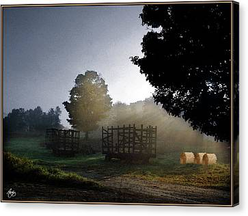 Canvas Print featuring the photograph The Gathering Day by Wayne King
