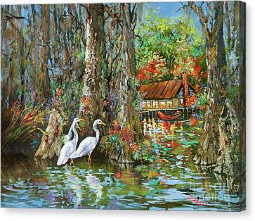 The Gathering - Louisiana Swamp Life Canvas Print