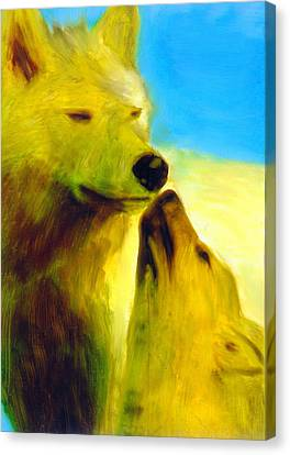 Canvas Print featuring the painting The Gathering by FeatherStone Studio Julie A Miller