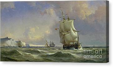 Water Scene Canvas Print - The Gathering Storm by Anton Melbye