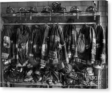 Clothing Canvas Print - The Gear Of Heroes - Firemen - Fire Station by Lee Dos Santos
