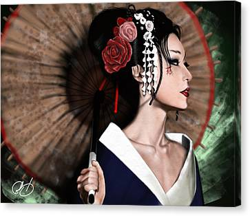 The Geisha Canvas Print by Pete Tapang