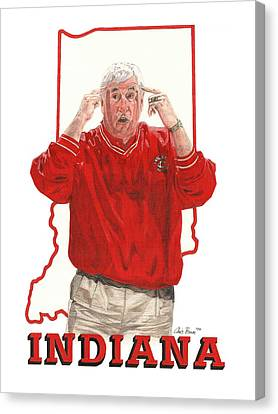The General Bob Knight Canvas Print by Chris Brown