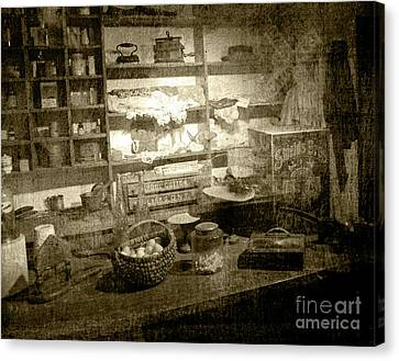 Canvas Print featuring the photograph The General Store by Pete Hellmann