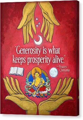 The Generosity Buddha Canvas Print