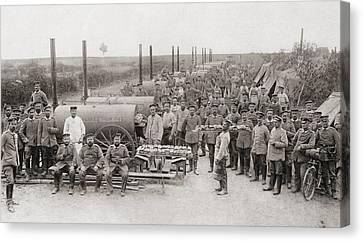 The German Armys  Field Bakeries During Canvas Print by Vintage Design Pics