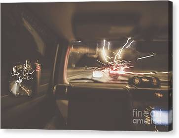Law Enforcement Canvas Print - The Getaway Car Chase by Jorgo Photography - Wall Art Gallery