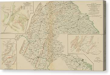 The Gettysburg Campaign - American Civil War Canvas Print