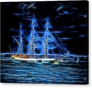 Ghost Story Canvas Print - The Ghost Ship by Martin Wall