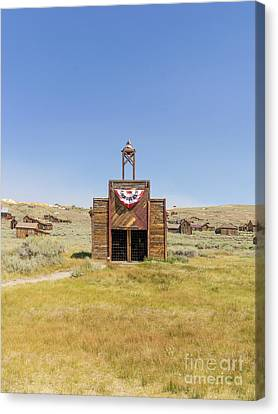 The Ghost Town Of Bodie California Fire House Dsc4432 Canvas Print by Wingsdomain Art and Photography