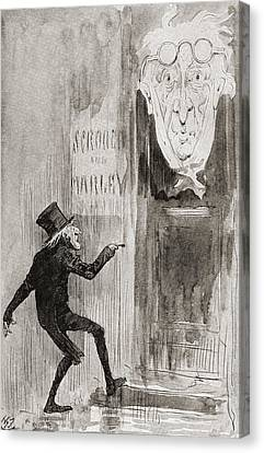 The Ghostly Knocker. It Was Not Angry Canvas Print