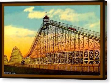 The Giant Roller Coaster, Brighton Beach, Brooklyn N Y, 1916 Canvas Print by Dwight GOSS